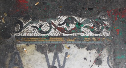 Mosaic floor at 151 Upper Street